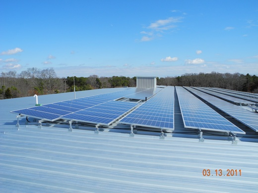 100kW system installed on a standing seam roof