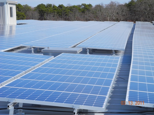 100kW system on standing seam roof