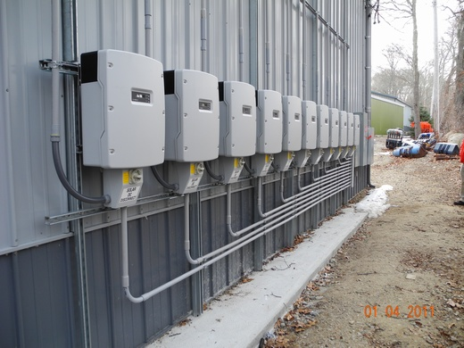 236.32kW spanning 3 buildings - Building One 78.54kW  using 11 SMA 7000m inverters