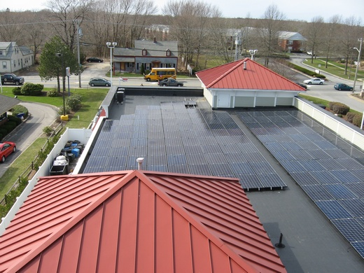 60kW system on rubber membrane roof