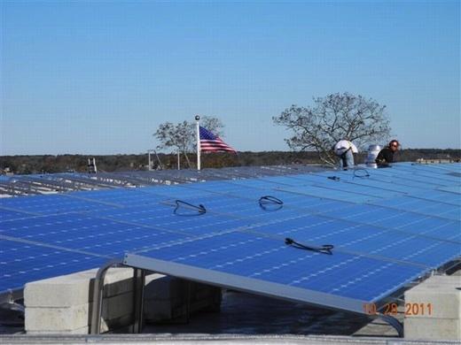 61.10kW solar array with 260 ARRA Compliant Sharp modules