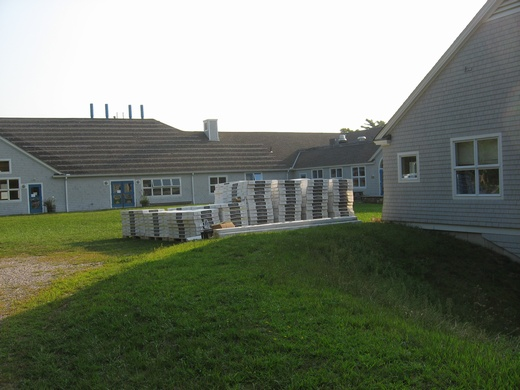 A total of 333 SunPower 230 modules were installed on two buildings at the Falmouth Academy