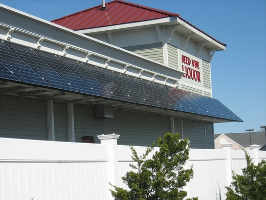 Attractive solar canopy provides additional kW
