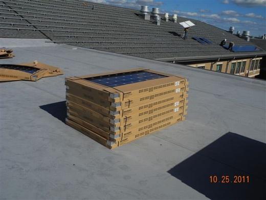 Beaumont Solar in-house design team designed this system using ARRA Compliant Sharp 235 watt modules