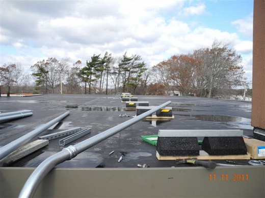 Beaumont Solar in-house electrical team prepares to layout conduit runs