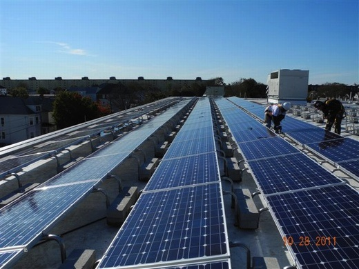 Beaumont Solar in-house electricans perform wiring of system