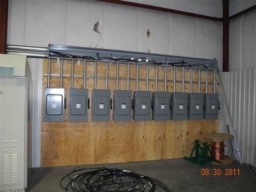 Building's electrical panels