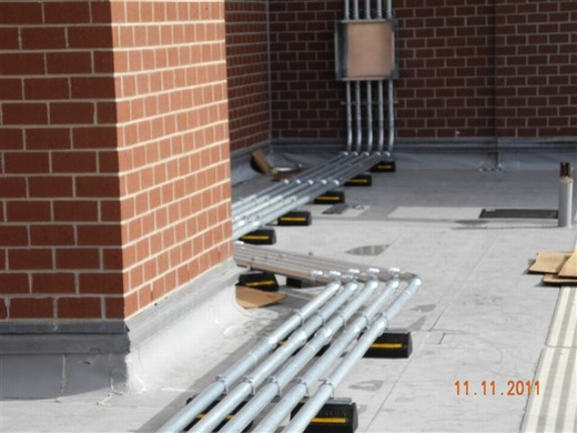 Conduit runs installed with precision for system performance and installation asthetics
