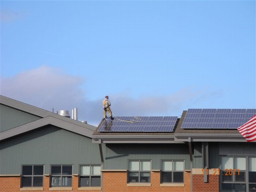 During installation of this school's 85.54kW system