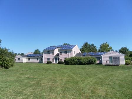 Each building with solar houses multiple residences
