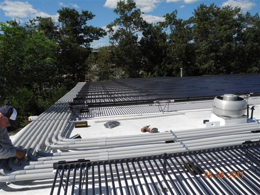 Electrical runs, conduit installed with precision by Beaumont Solar in-house electrical professionals