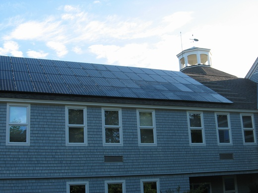 Falmouth Academy is lowing operating costs by utilizing solar energy