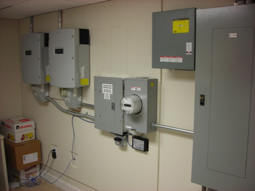Installed inverters and revenue grade monitoring system