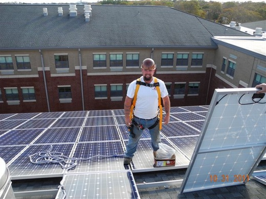 Member of our Beaumont Solar in-house installation team