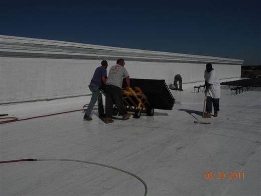 New white TPO roof