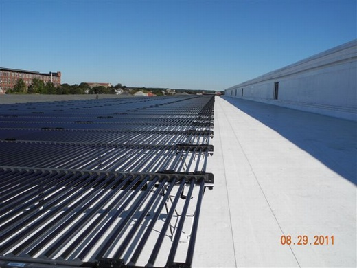 One half of this 281.60kW ballasted system