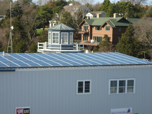 Portion of completed 100kW system