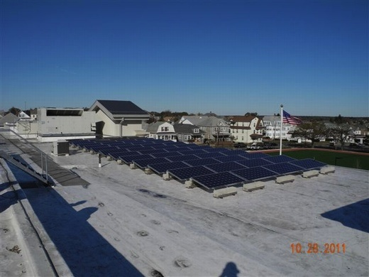 Portion of the completed 61.10kW system