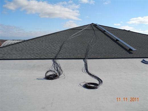 Preparing to run wiring through conduit