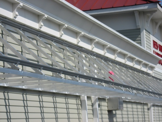 Solar canopy with solar racking installed