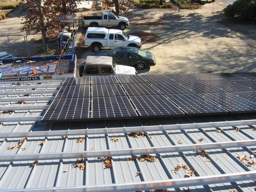 Start of installation of SunPower 238 solar modules