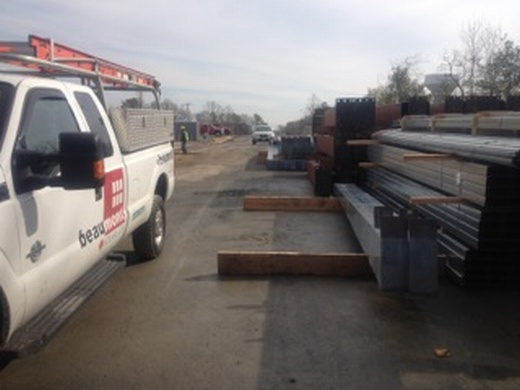 Steel for new carport structures arrive