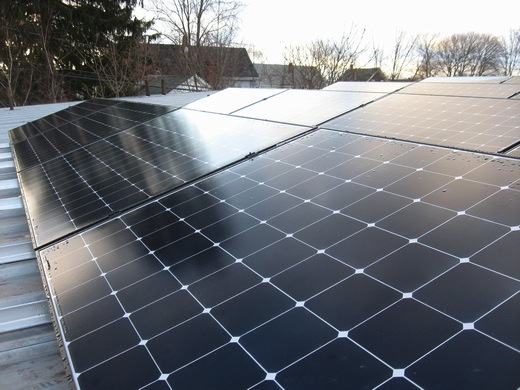 SunPower 315 modules installed at 20 degree tilt