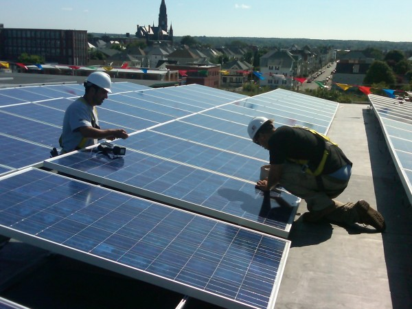 System implementation by the Beaumont Solar in-house installation - electrical team