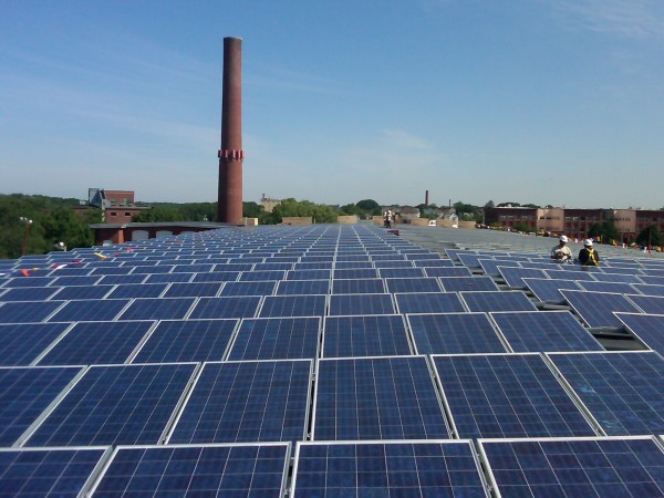 The entire 287.375kW system consists of 1,045 solar panels