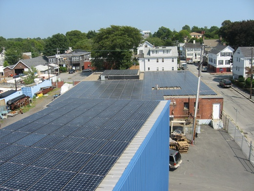 This 156.555kW system spans two roofs of the Harbor Blue Seafood facility