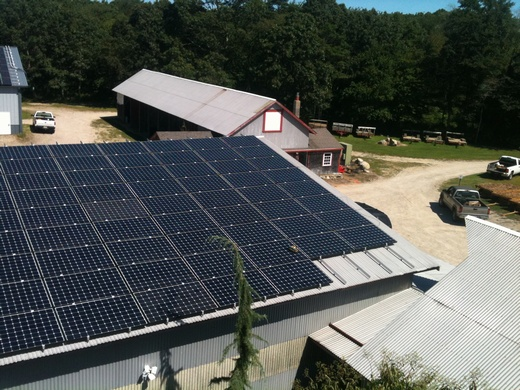 This 64.96kW solar system with produce an average of 74,000kWh annually