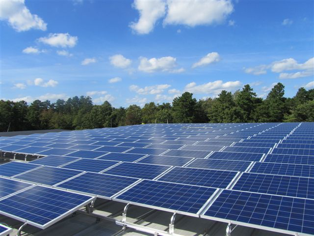 This total 121.03kW system consists of 494 solar panels