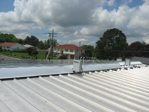 View of 37.1kW array near completion