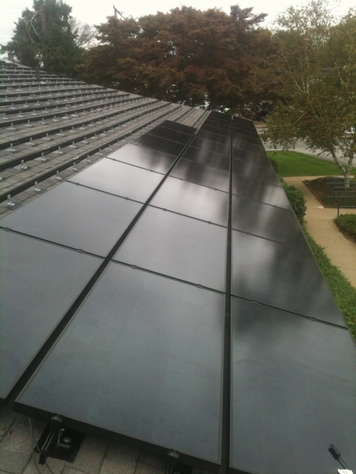 View of second system installation in progress - additional 20.475kW