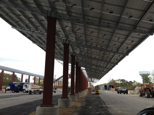 View of solar carport