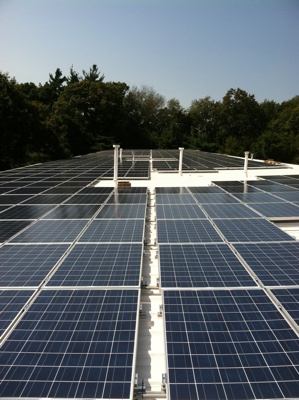 Portion of the completed 124.80kW rooftop solar system