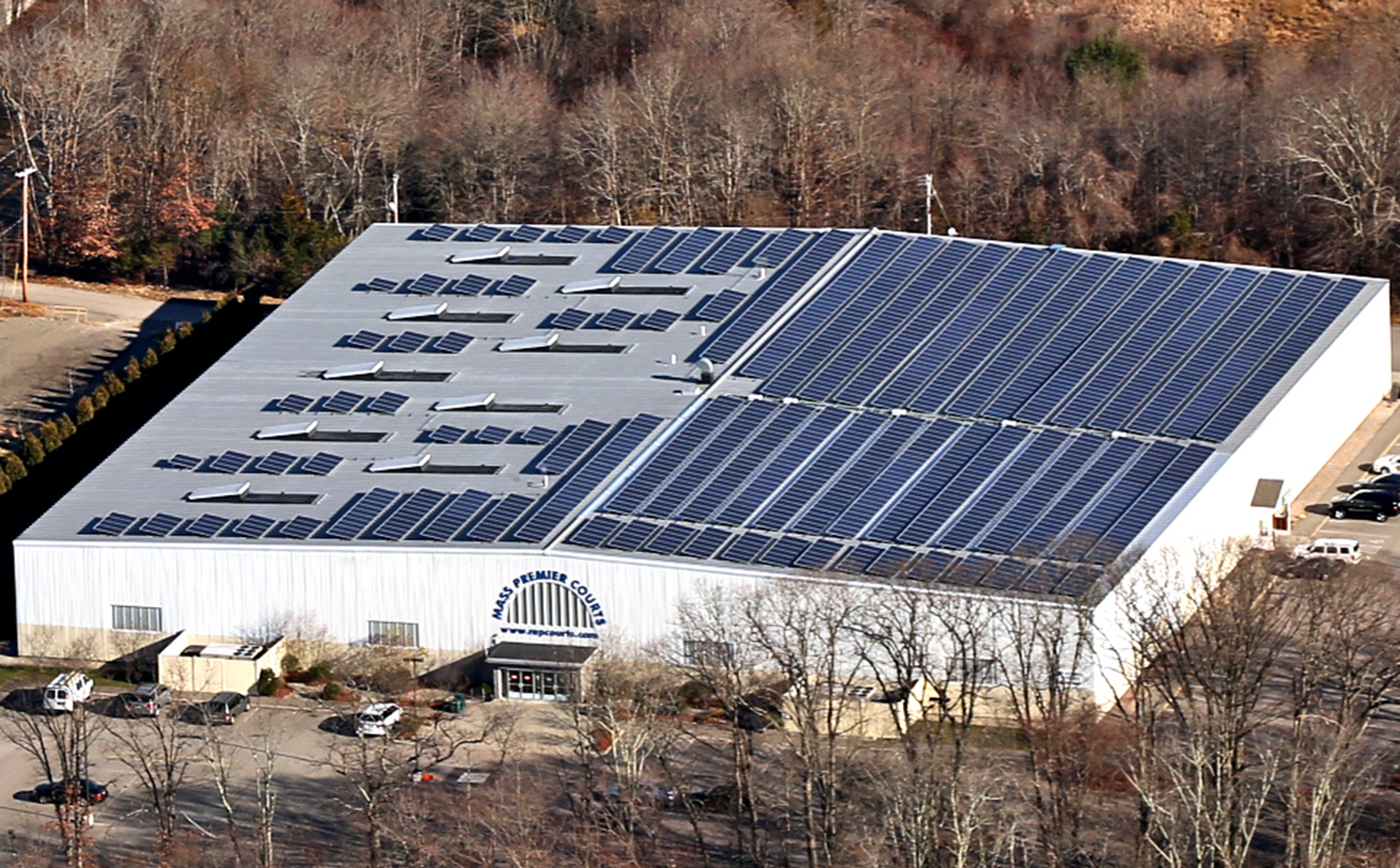 The 389.40kW solar system is comprised of 1320 solar panels