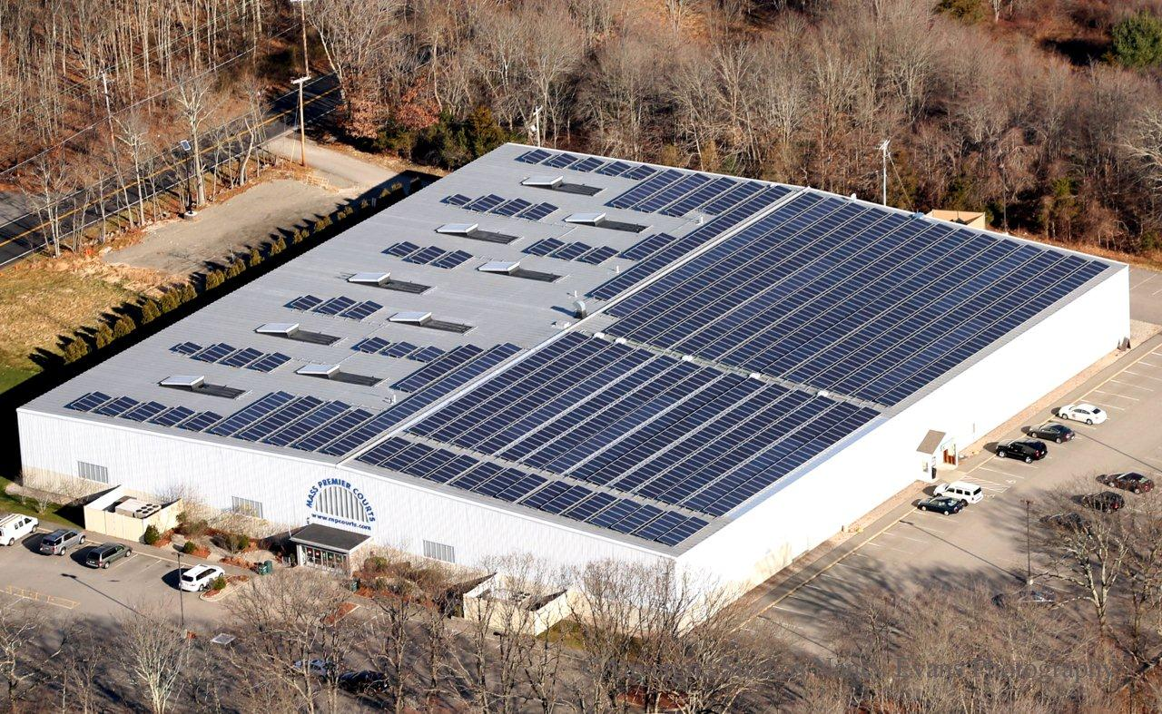 This indoor basketball facility now operates under the power of its 389.40kW solar system