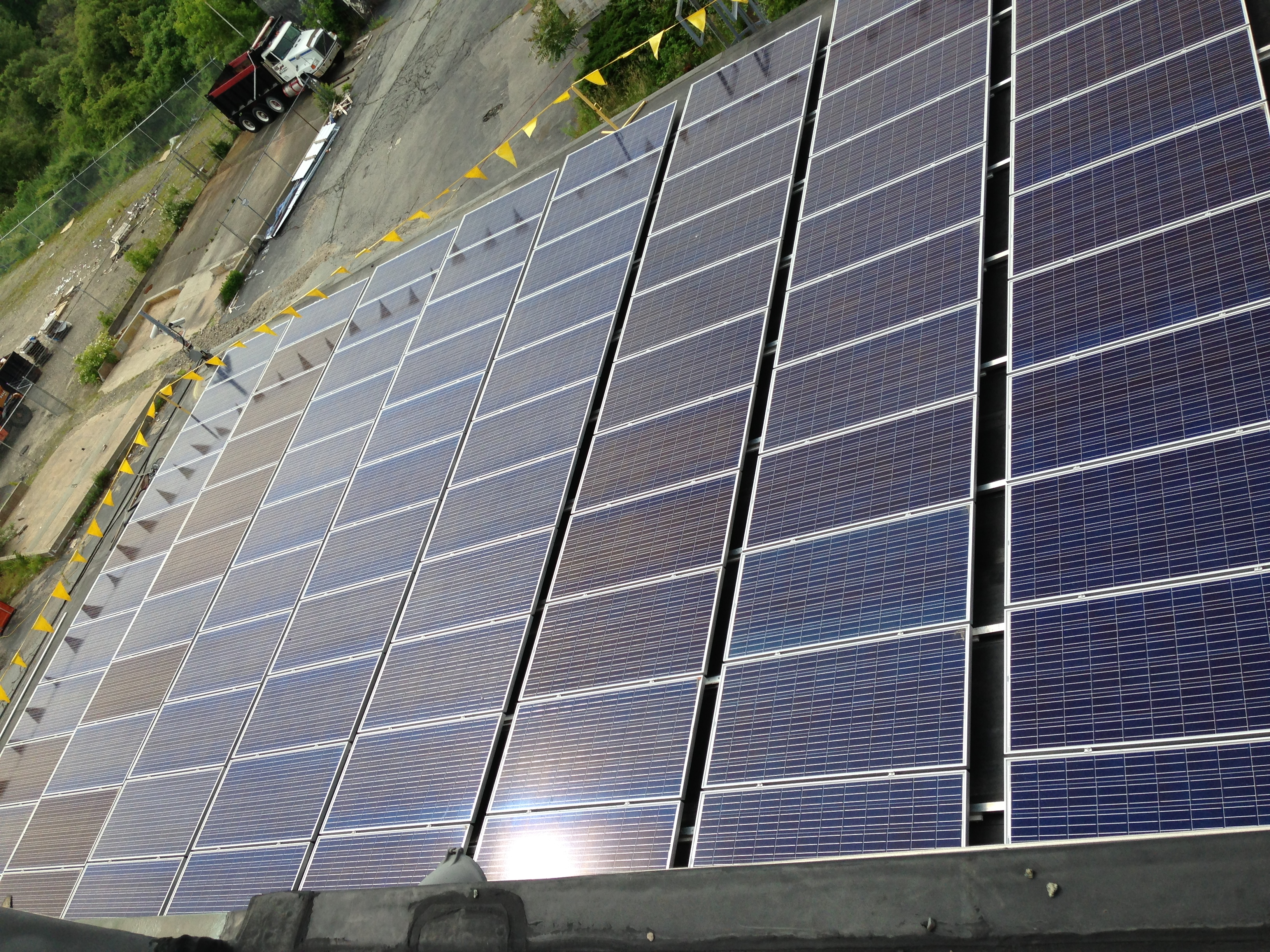 A portion of the 500kW rooftop array