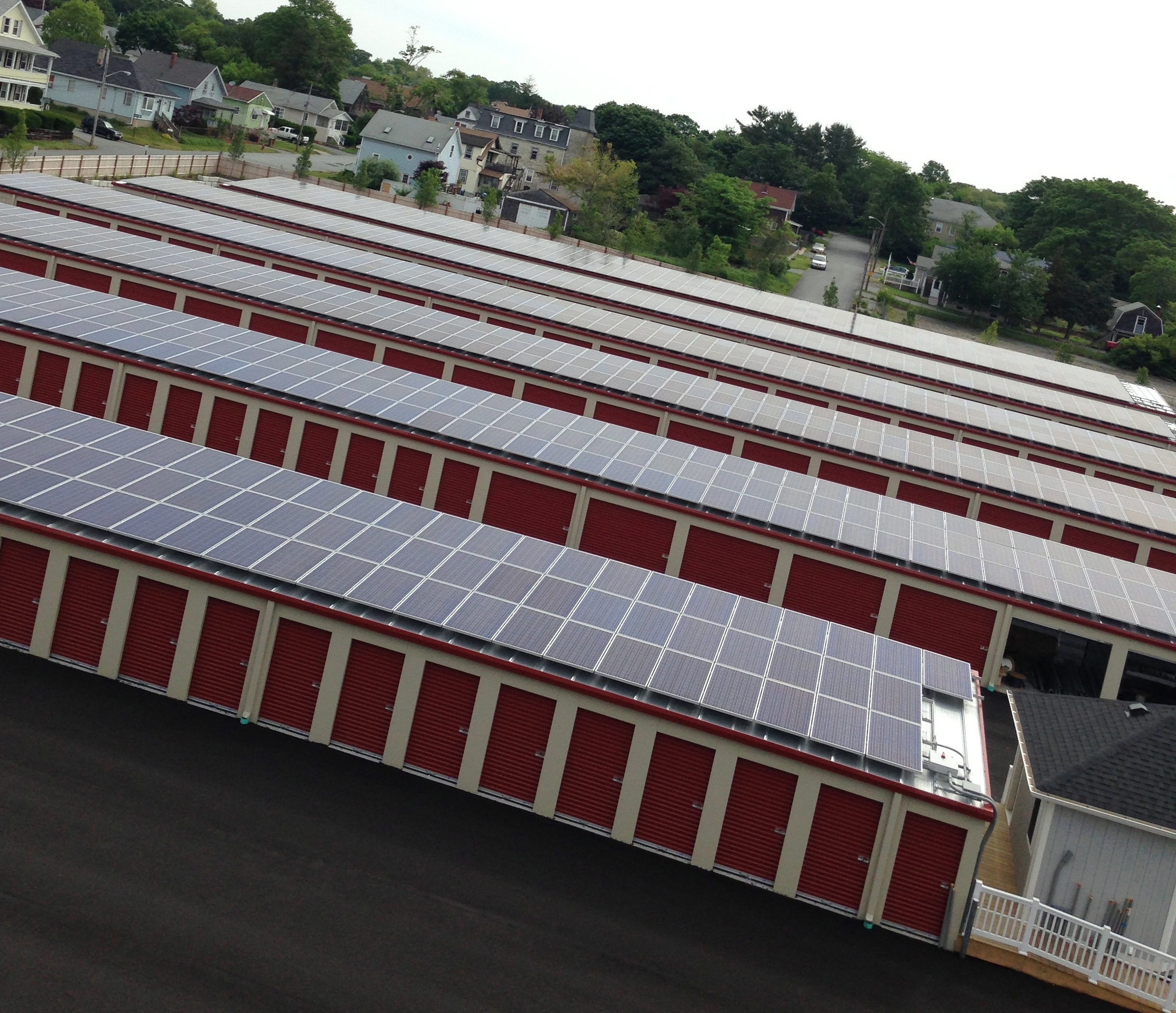 All of the storage units' rooftops generate electricity