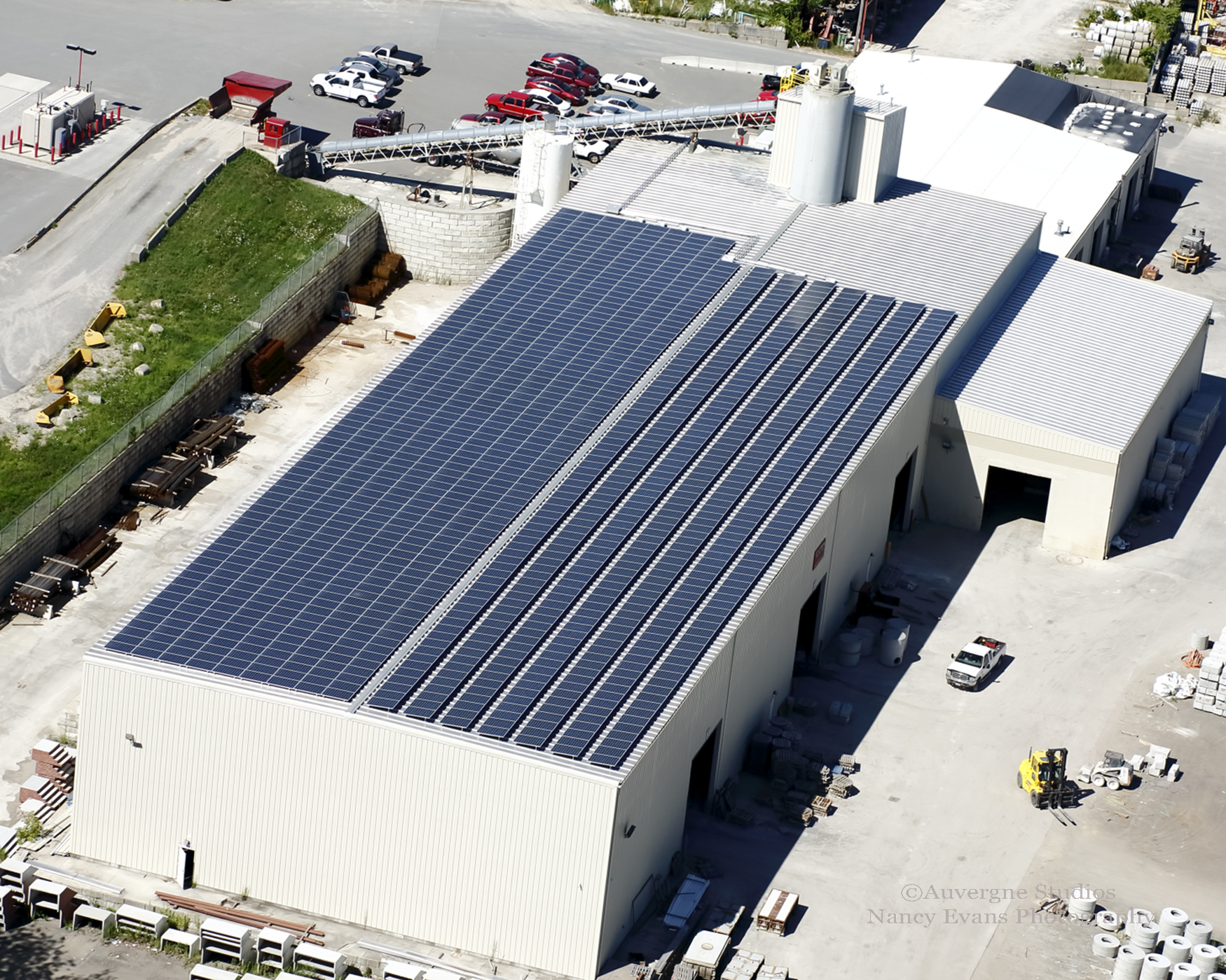 An Aerial photo of the 389kW project