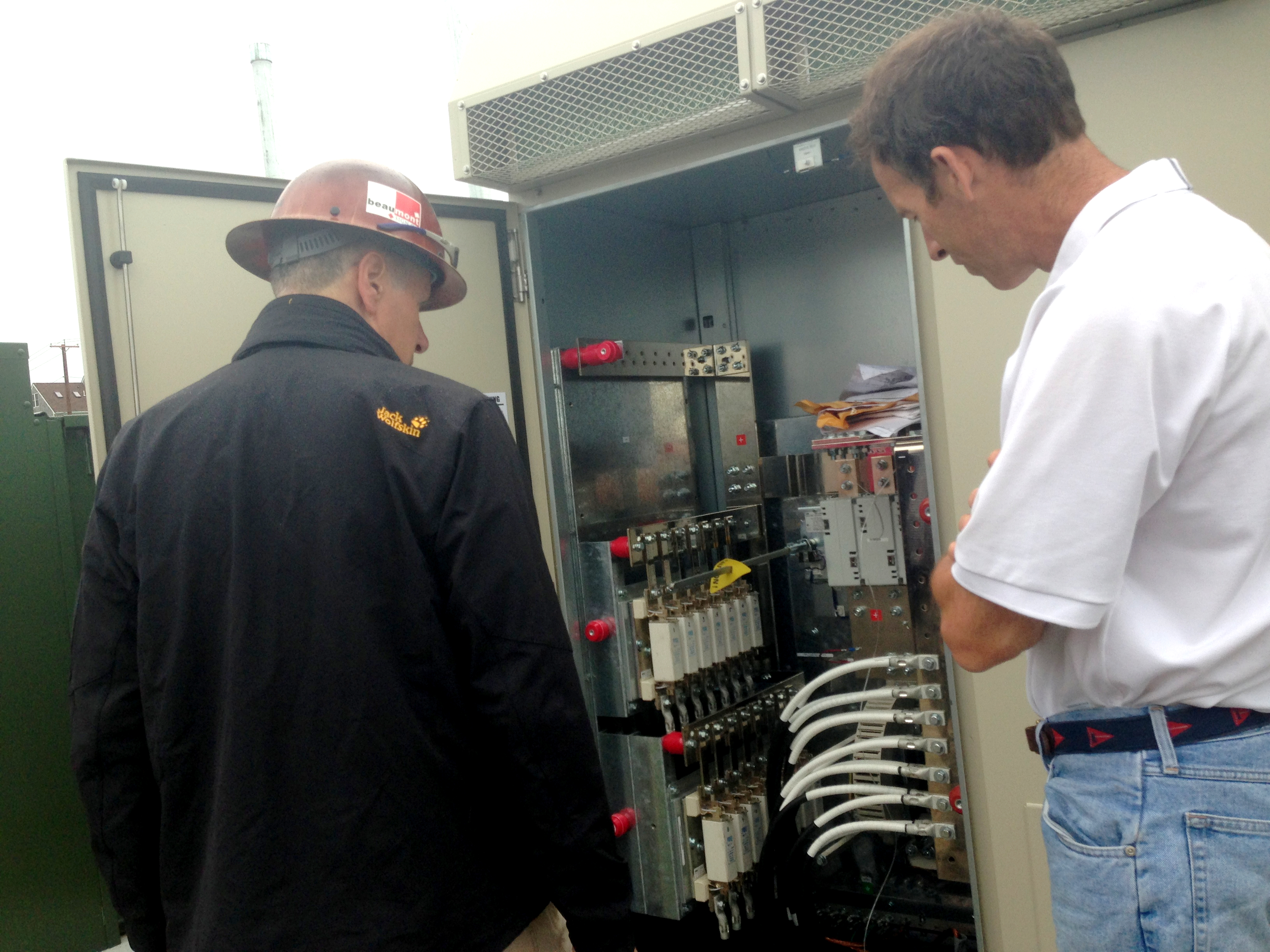 Inspecting the inverter installation of this 500kW system