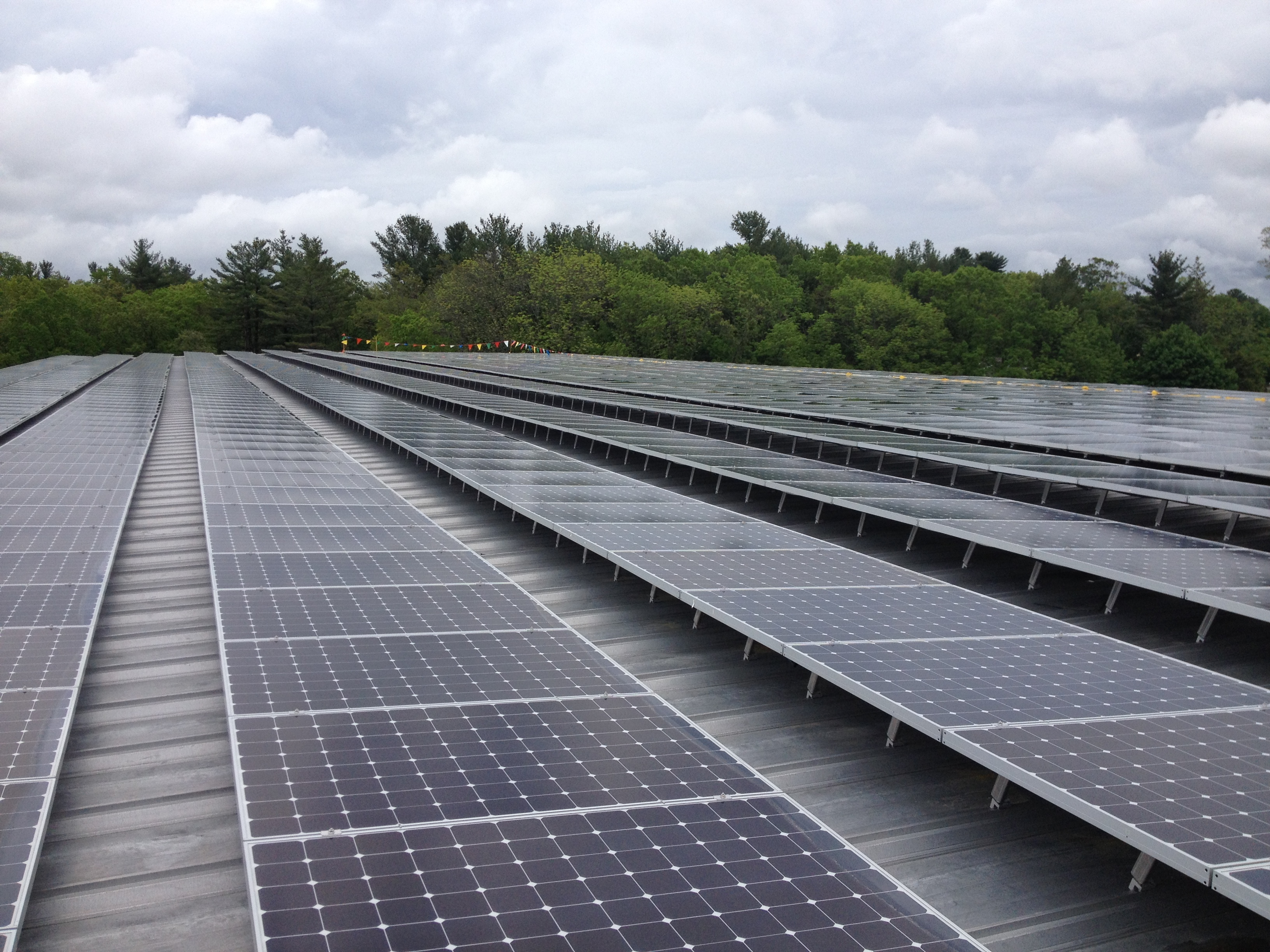 An angular perspective of the 389kW system