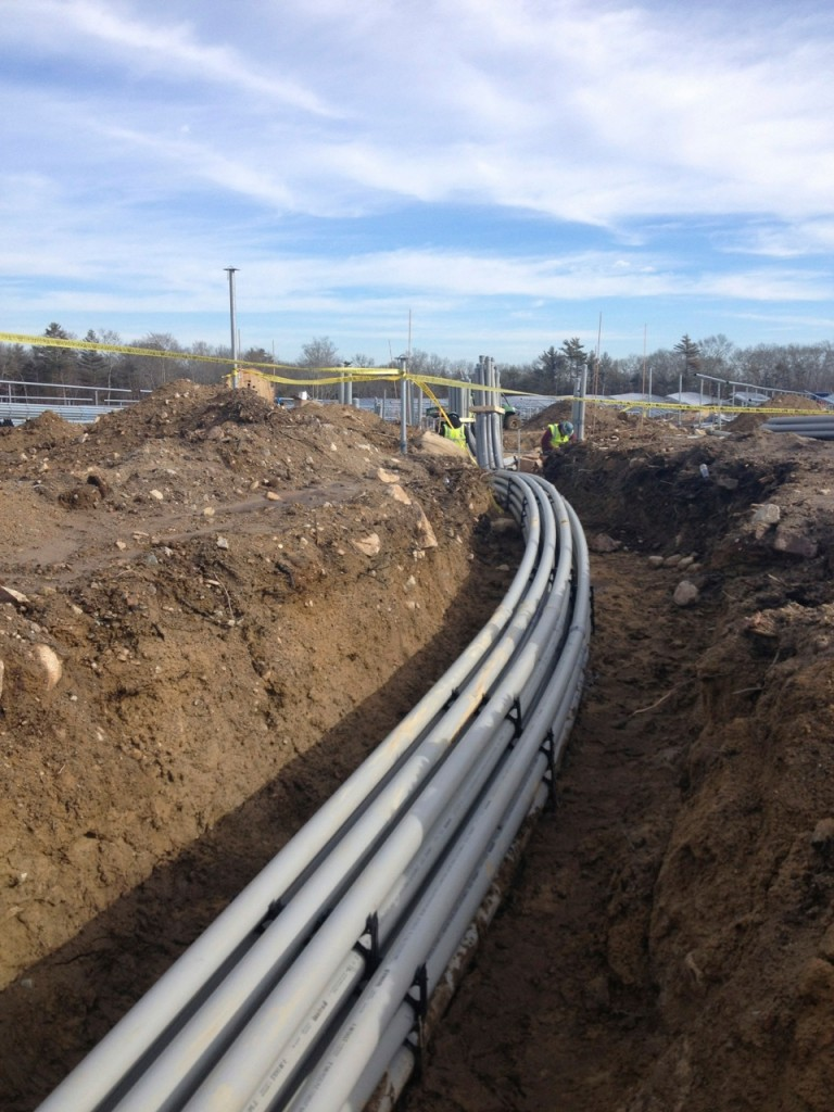 Conduit pipe runs Dartmouth