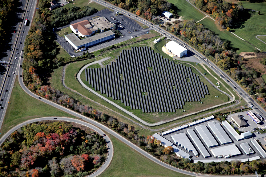 Beaumont Solar installed this 1.8MW solar system on a capped EPA Superfund landfill for the City of New Bedford MA
