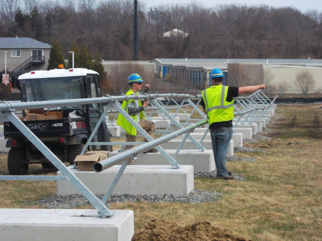 Beaumont Solar apprentices learn how the whole process of system design comes to fruition on the construction site