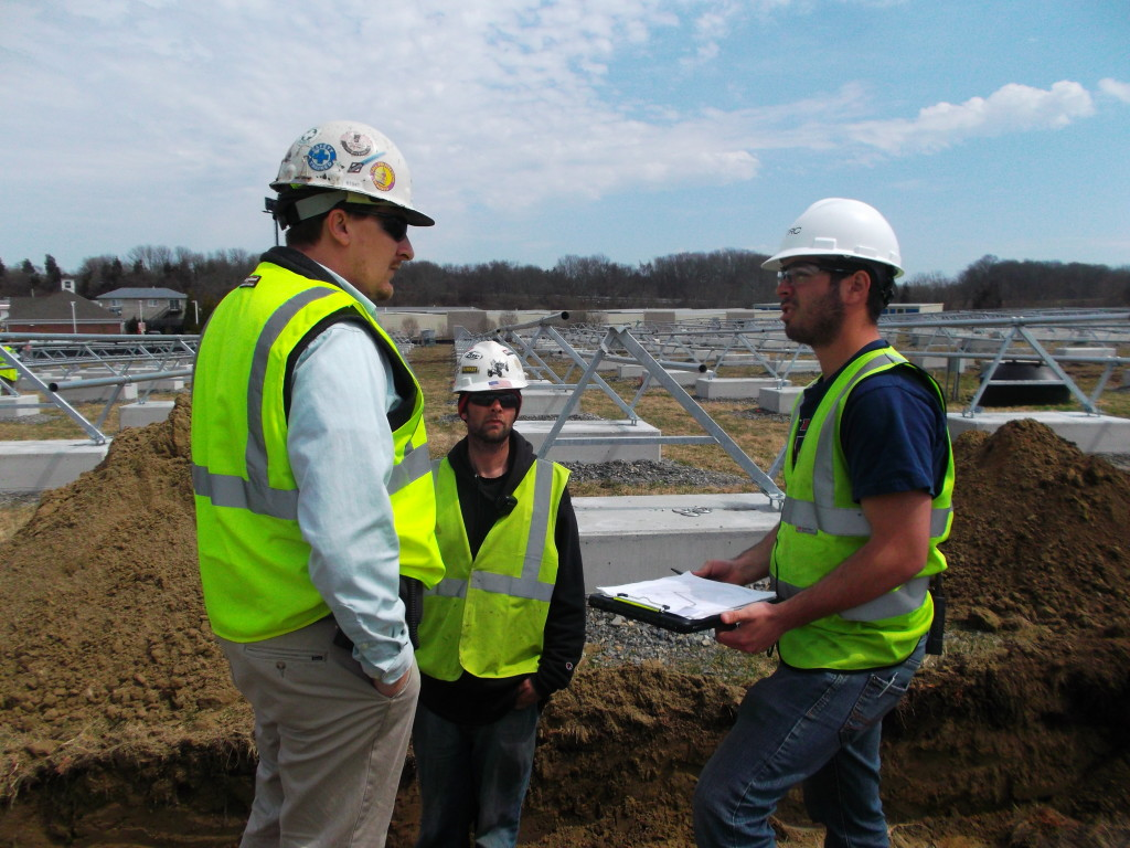 Members of the Beaumont Solar project management and construction team