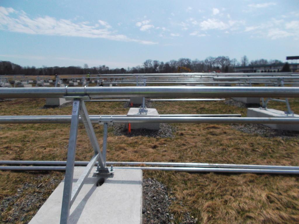 The rails, and the sun await the solar panels