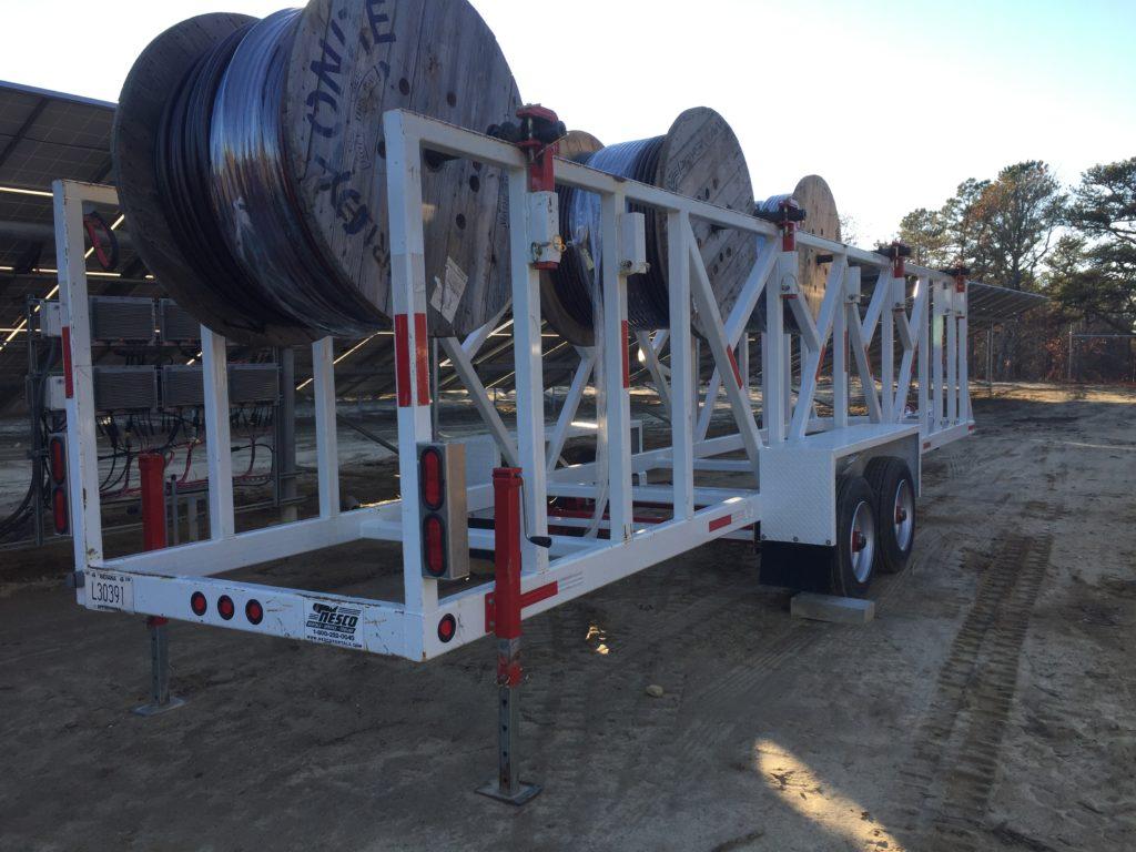 Medium voltage wire reel trailer