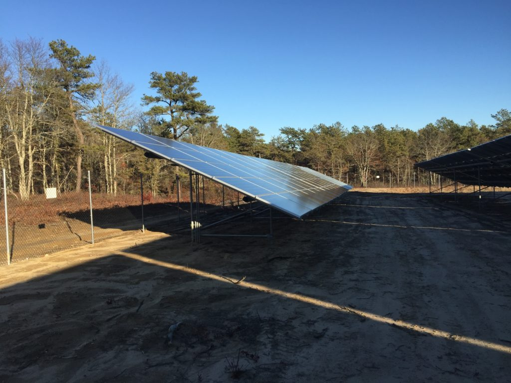 A portion of the solar array